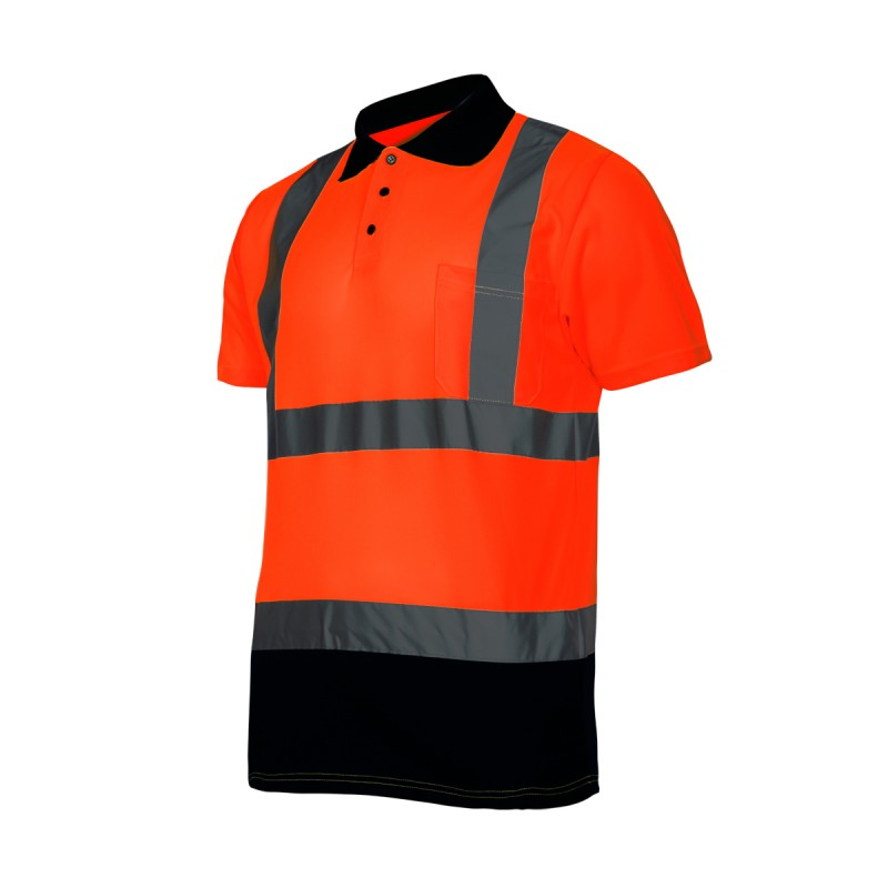 High visibility polo shirts l40301 for Hi vis polo shirts with pocket