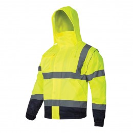 HIGH VISIBILITY PADDED JACKETS WITH DETACHABLE SLEEVES