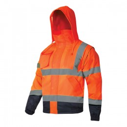 HI-VISIBILITY PADD ED JACKETS WITH DETACHABLE SLEEVES