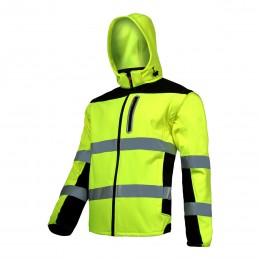 HIGH VISIBILITY SOFT-SHELL JACKETS, DETACHABLE SLEEVES