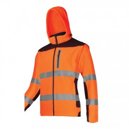 HIGH-VISIBILITY SOFT SHELL JACKETS WITH DETACHABLE SLEEVES