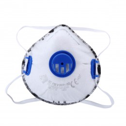 DUST MASKS FFP1 WITH VALVE WUTH ACTIVE CARBON LAYER