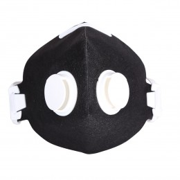 HALF-FACE SMOG MASK WITH TWO VALVES AND ACTIVATED CHARCOAL LAYER