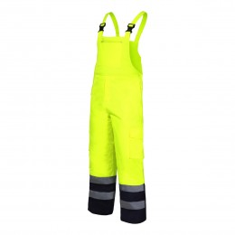HIGH VISIBILITY QUILTED BIB PANTS