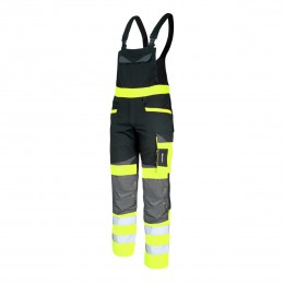 HI VISIBILITY BIB PANTS - SLIM FIT