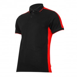 POLO SHIRTS BLACK-RED