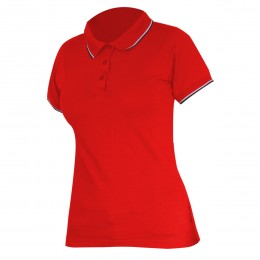 LADIES' POLO SHIRTS RED