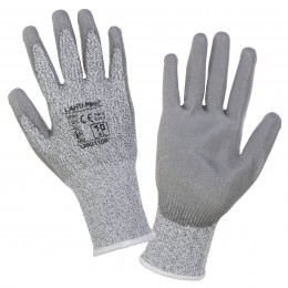 POLYURETHANE-COATED PROTECTIVE GLOVES WITH INCREASED RESISTANCE TO BLADE CUTTING (LEVEL 5)