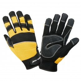 PROTECTIVE GLOVES WITH PVC PADDING