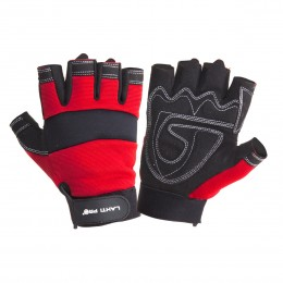 FINGERLESS ANTI-CARD PADDED PROTECTIVE GLOVES