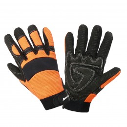 PROTECTIVE GLOVES COVERED WITH NON-SLIP SILICONE MESH